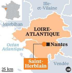 Carte de Saint-Herblain La Croix